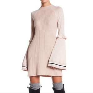Free People Knit Bell Sleeved Dress